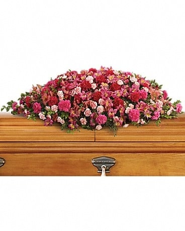 A Life Loved Casket Spray Sympathy Arrangement