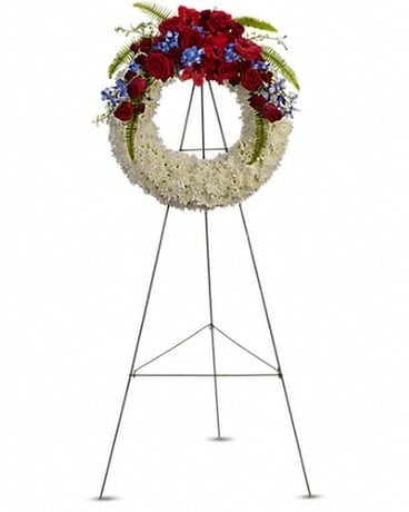 Reflections of Glory Wreath Flower Arrangement