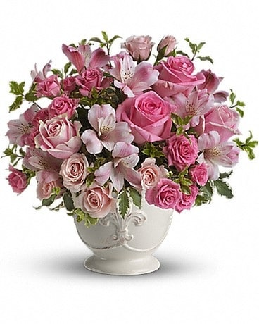 Pink Potpourri Bouquet with Roses Flower Arrangement