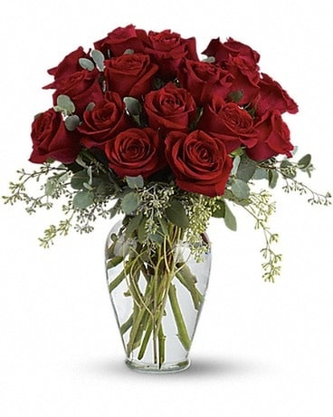Full Heart - 16 Premium Red Roses Flower Arrangement