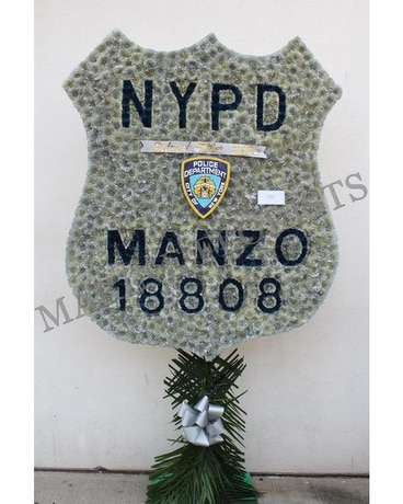 XL NYPD Badge Flower Arrangement