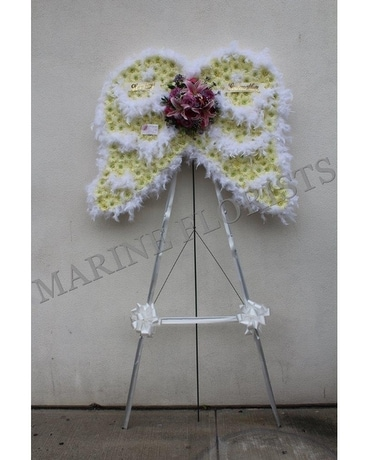 Angel Wings with Feathers Flower Arrangement