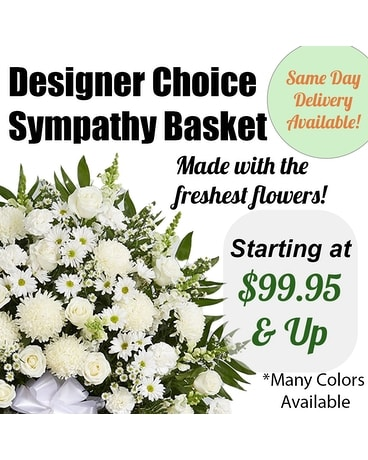 Designers Choice Funeral Basket Sympathy Arrangement