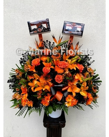 Harley Davidson Basket Specialty Arrangement