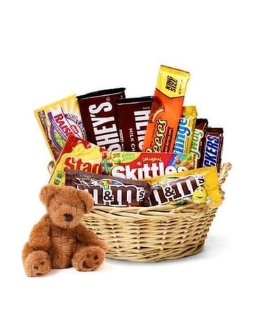 Chocolate Basket and Bear Gifts