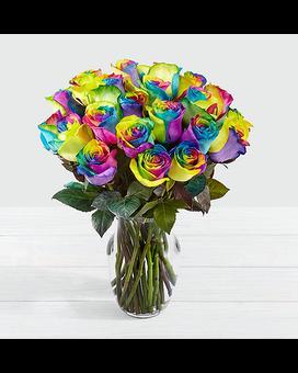 Quick view Time to Celebrate Rainbow Rose Bouquet Flower Arrangement 3f33c28b8