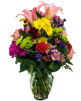 Fantasy of Colors Flower Arrangement