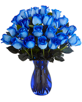Blue-tiful Blue Roses Flower Arrangement