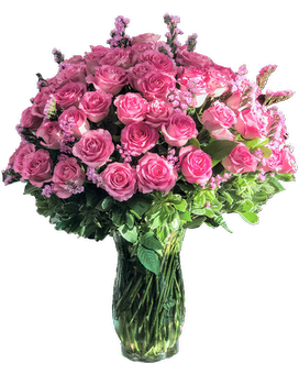 100 Premium Long Stem Pink Roses Flower Arrangement