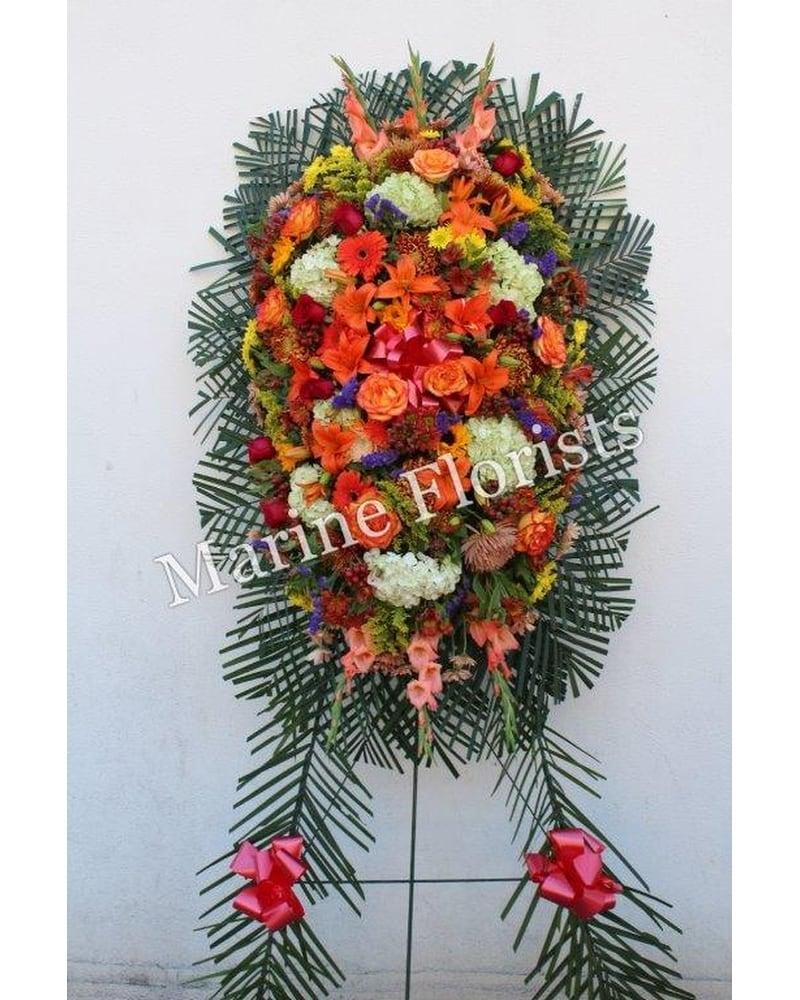 Sympathy buying guide i marine florists i 1995 flatbush ave easel spray standing basket izmirmasajfo Images