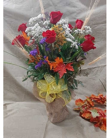 1 DZRoses Flower Arrangement
