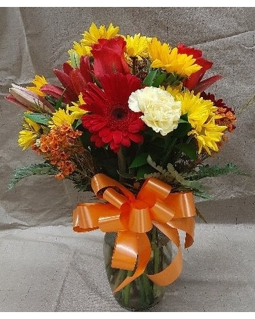 Sm mixed fall vase Flower Arrangement