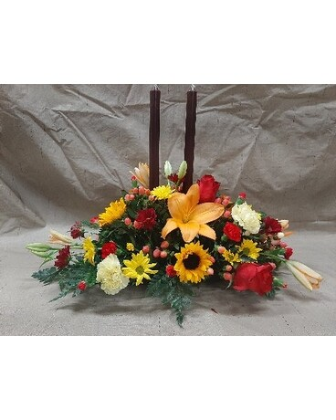 Large fall centerpiece Flower Arrangement