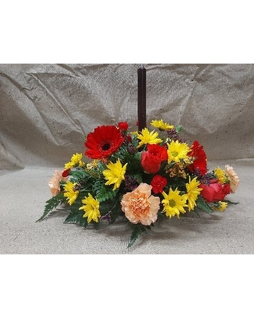 Med mixed centerpiece Flower Arrangement