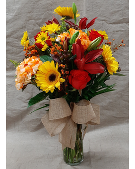 Large Fall Mixed Bouquet Flower Arrangement