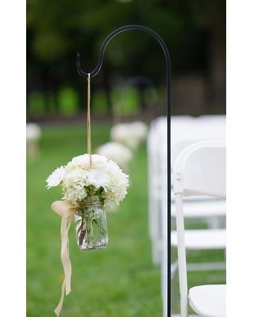 Shepard Hooks Flower Arrangement