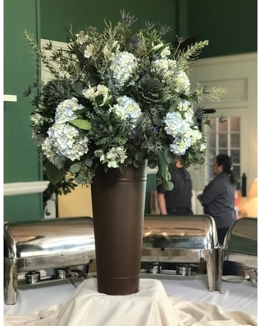 Metal Brown Tall Container Wedding Arrangement