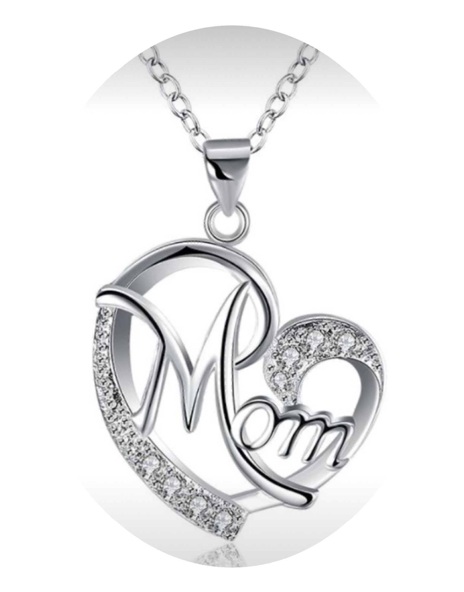 Mom Sterling Silver Necklace