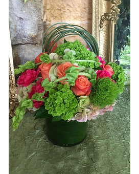 Vibrant Unique Garden Flower Arrangement