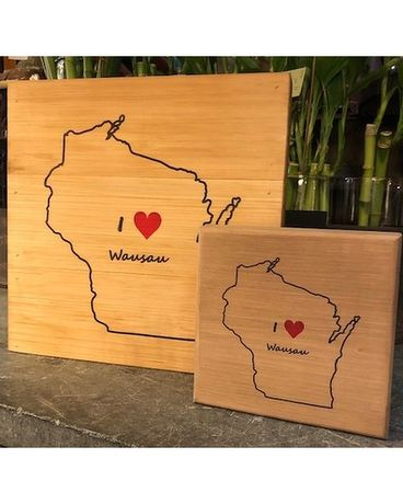 I Love Wausau Wood Block Gifts
