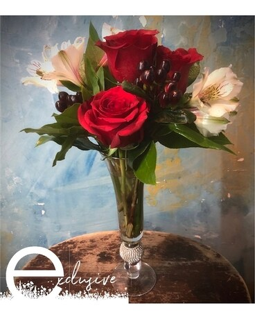 Diamonds are a Girl's Best Friend Flower Arrangement