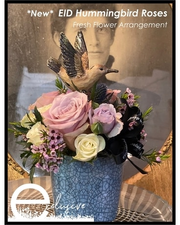 EID Hummingbird Roses Flower Arrangement