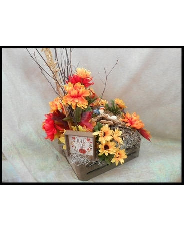 Hello Fall Silk Bouquet Flower Arrangement