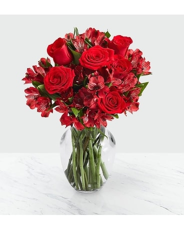 Red Diamond Flower Arrangement