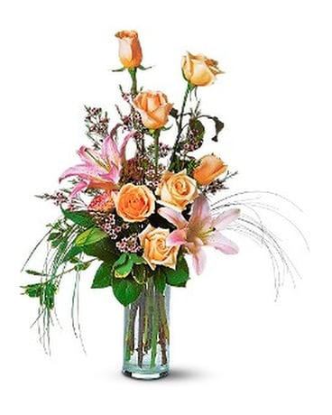 Rose and Lily Splendor Flower Arrangement