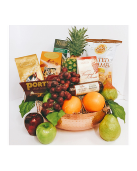 Grand Copper Celebration Gourmet Fruit Gift