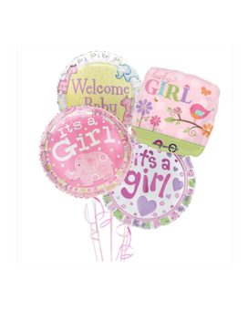 New Baby Girl Hospital Balloon Package