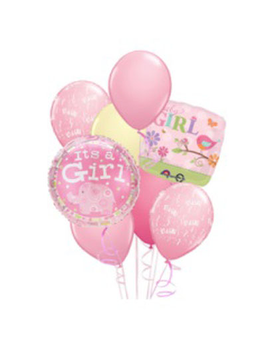 Baby Girl Balloon Bouquet Flower Arrangement