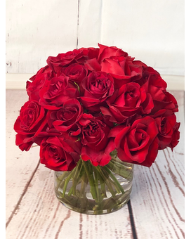 Modern Three Dozen Roses Flower Arrangement