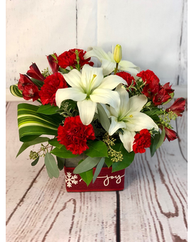 Joyful Christmas Flower Arrangement