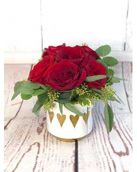 Golden Love Flower Arrangement