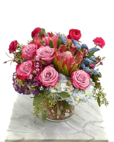 Periwinkle Paradise Flower Arrangement