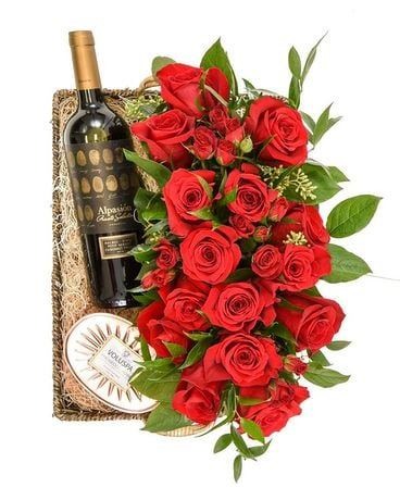 Wine & Dine Flower Arrangement