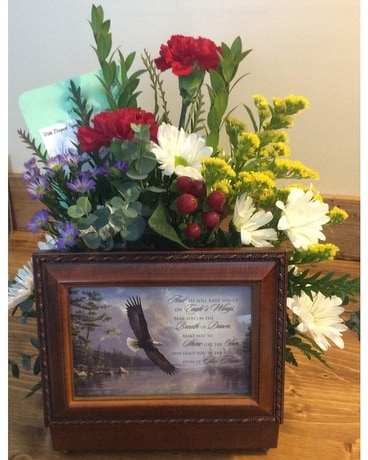 Memory Music Box Flower Arrangement