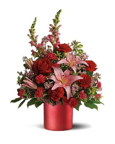 Teleflora's Red Romance Bouquet Flower Arrangement