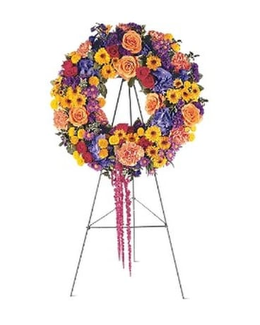 Celebration Wreath Flower Arrangement