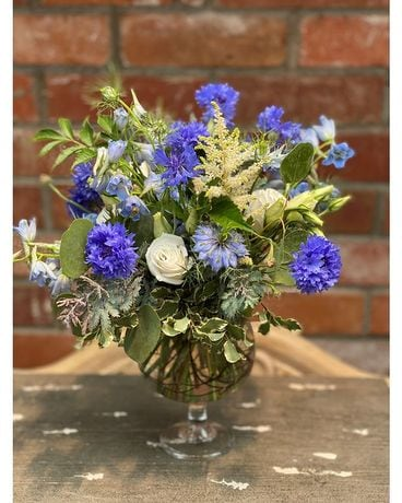 Boulder Blues Flower Arrangement
