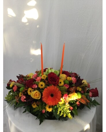 Thanksgiving Centerpiece Flower Arrangement