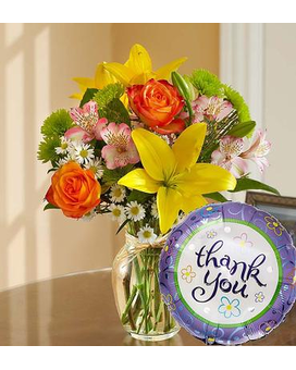 Thank You Bouquet with Mylar Flower Arrangement
