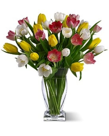 True Love Tulips Flower Arrangement