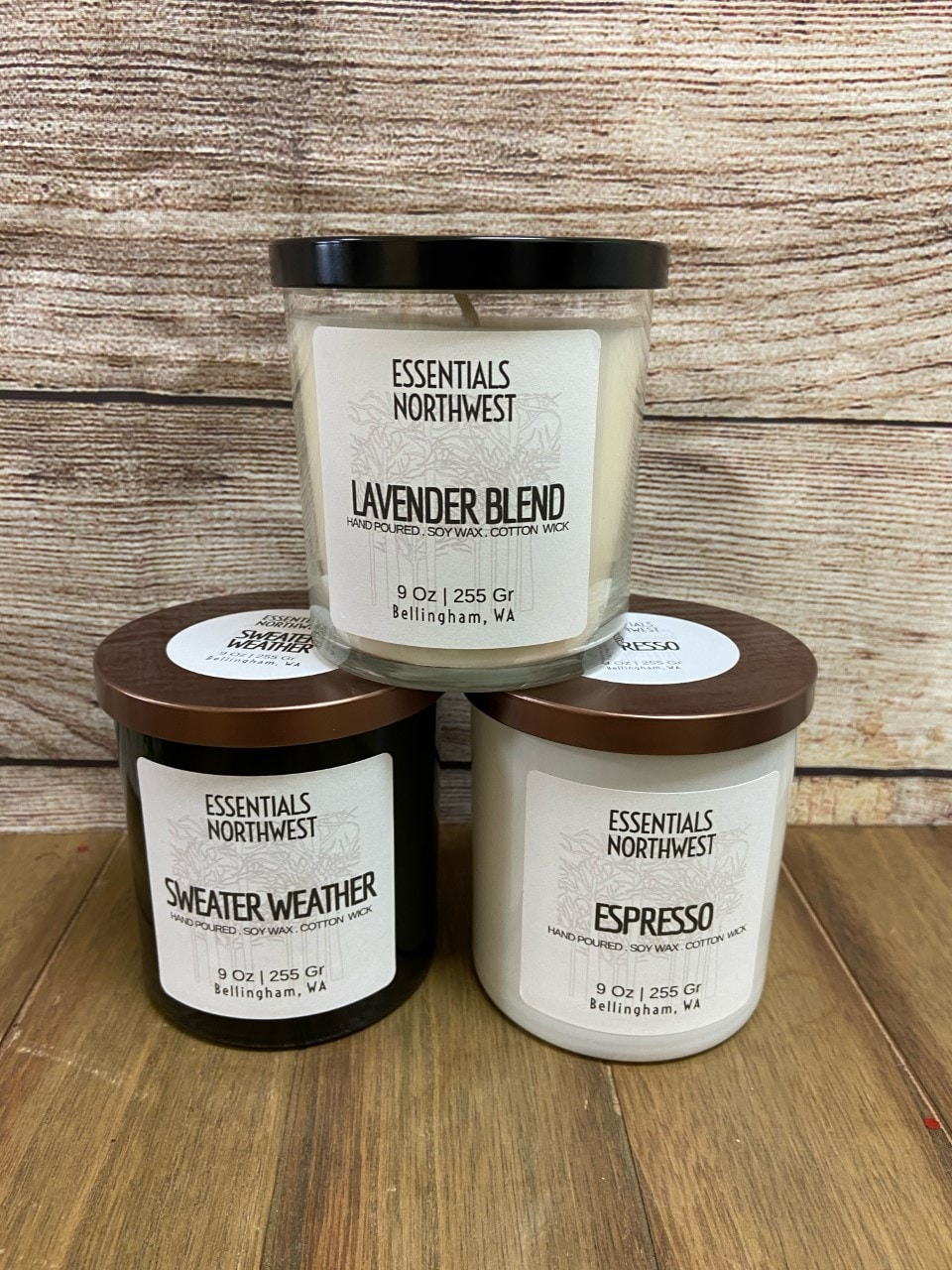 Essentials Northwest candles (made in Bellingham)