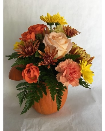 Fall Love Pumpkin bouquet Flower Arrangement