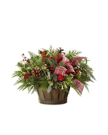 Holiday Homecomings basket Flower Arrangement