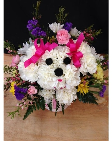 LOVE PUPPY BOUQUET Flower Arrangement