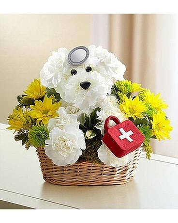 Doggie Flower Arrangement