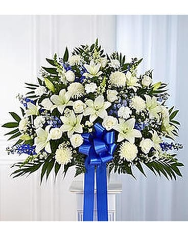 Funeral service bouquets delivery manassas va flowers with passion blue white mightylinksfo